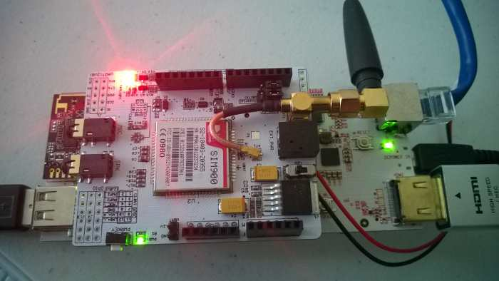 pcDuino v2 with GSM shield