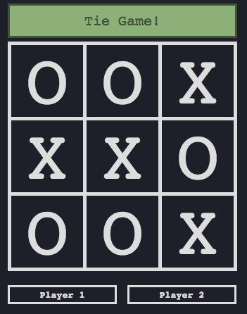 Tic-Tac-Toe game screen shot